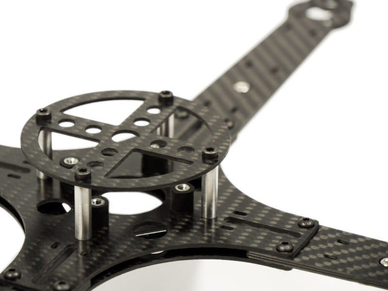 AF4-350-3D Center plate top MULTICOPTERS